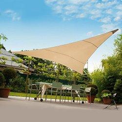 Tenda ombreggiante vela triangolare ecrù 3x3x3mt...