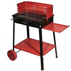 Barbecue a legna o carbone in acciaio con ruote...