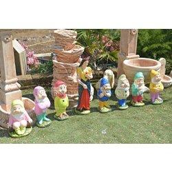 Statua Biancaneve ed i 7 nani Colorati - Vivaio...