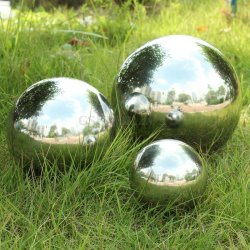 STAINLESS STEEL MIRROR SPHERE HOLLOW BALL HOME...
