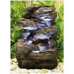 Fontana effetto roccia su 4 livelli con luci...