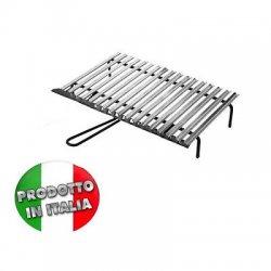 Graticola griglia acciaio inox pesante con...