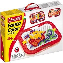 Quercetti 0902 - Fantacolor Design - 300 Chiodini...