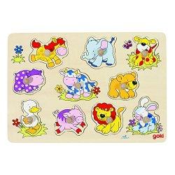 Goki Puzzle dincastro «Cuccioli»