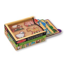 Melissa & Doug 14790 - Set di Mini Puzzle, Animali