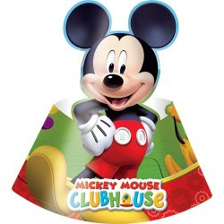 Playful Mickey Mouse Party Hats - Pack of 6
