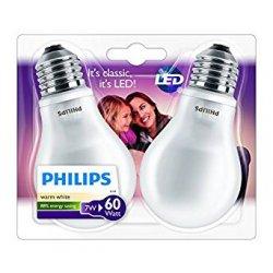 Philips, Lampadina LED, attacco E27, 2 pz., 7...