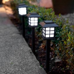 Set di 6 luci da giardino a lanterna con LED...