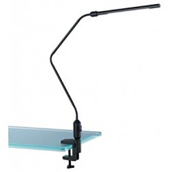 Lampada a LED da tavolo, con morsetto nero...