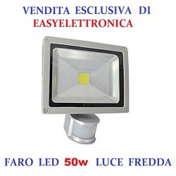 FARO LED DA 50W WATT CON SENSORE DI MOVIMENTO...