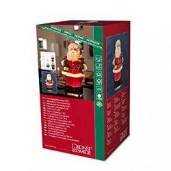 Konstsmide 4310-550 Babbo Natale a LED in fibra...
