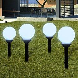 vidaXL Lampione solare a LED da giardino 15cm 4pz...