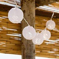 Catena 5,25 m, 16 lanterne bianche diam. 8 cm,...