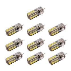 PIXNOR 10pz G4 DC12V 3W 24 SMD 3528 LED 2800k -...