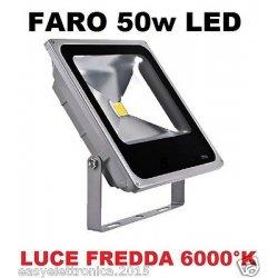 FARO FARETTO LED ULTRA-SLIM 50w IP66 LUCE FREDDA...