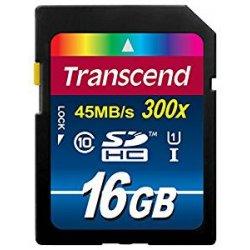 Transcend TS16GSDU1 Scheda di Memoria SDHC, 16GB,...