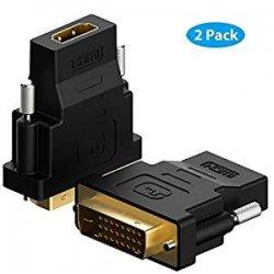 HDMI su DVI , Rankie® 2 Pack Placcato Oro...