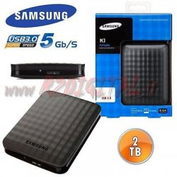 HARD DISK MINI SAMSUNG M3 2TB USB 3.0 ESTERNO HD...