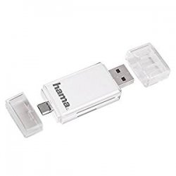 Hama 123949 Lettore SD OTG per Smartphone/Tablet,...