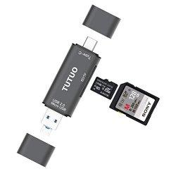 TUTUO Lettore di Schede SD / Micro SD (TF) 3 in 1...
