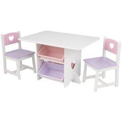 Kidkraft Heart, Set Tavolo con due sedie per...