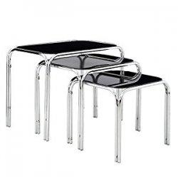 Premier Housewares Set di 3 tavolini con base...