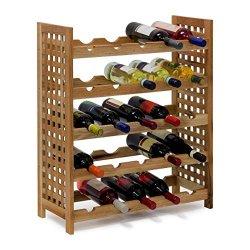 Relaxdays - Cantinetta per vino in legno di noce...