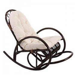 Sedia a dondolo Derby 135x59x96cm legno seduta...