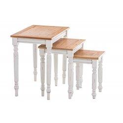 CLP Set da 3 tavoli TABEA, in legno di mogano,...