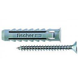 Fischer 2986508 Tasselli SX-S con Vite, 50 Pezzi, 8S