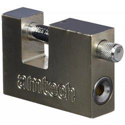 Am-Tech - Lucchetto in acciaio, 4 chiavi, 70 mm