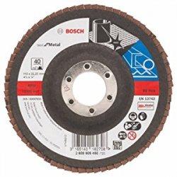 """Bosch 2608605450 - Disco lamellare per metallo """"Best for metal"""" per smerigliatrice angolare, grana 40, ø disco 125 mm, bombato"""