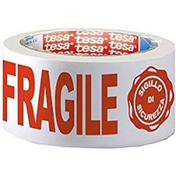 Tesa Nastro Imb Stamp Fragile, Bianco