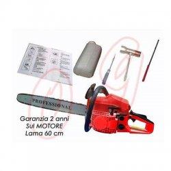 MOTOSEGA A SCOPPIO 58 CC LAMA 60 CM PROFESSIONALE