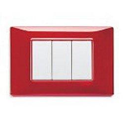 VIMAR Placca 3 moduli - Rubino