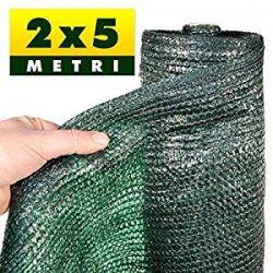 2x5 MT - RETE OMBREGGIANTE VERDE COPERTURA 90% / TELO OMBRA