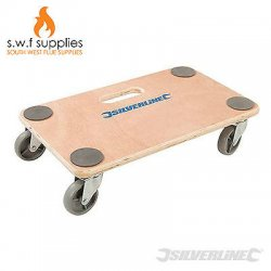 SILVERLINE 150KG WOODEN PLATFORM DOLLY CART...