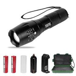 Torcia Militare alta potenza Torce LED Ricaricabile 1000 lumen Zoomable messa a fuoco regolabile torcia torcia tattica luminoso CREE XML T6,5 modalit�