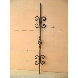 paletto in ferro battuto con pigna per recinzioni...