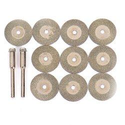 12pz disco diamantato Tool kit Wheel Blades Rotary Tool set
