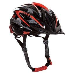 AWE AeroLite Casco bicicletta, 58-61 cm, colore nero/rosso