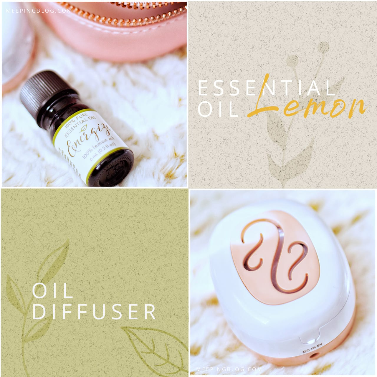 Laura Ashley Portable Essential Oil Diffuser Details