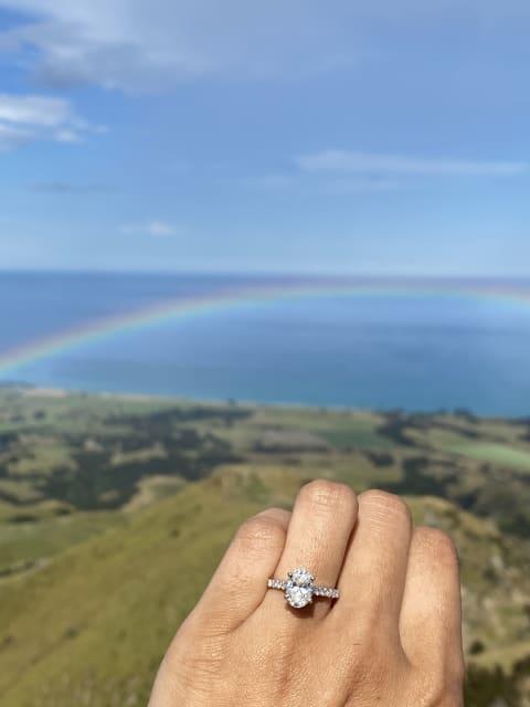 Ring overlooking the horizon