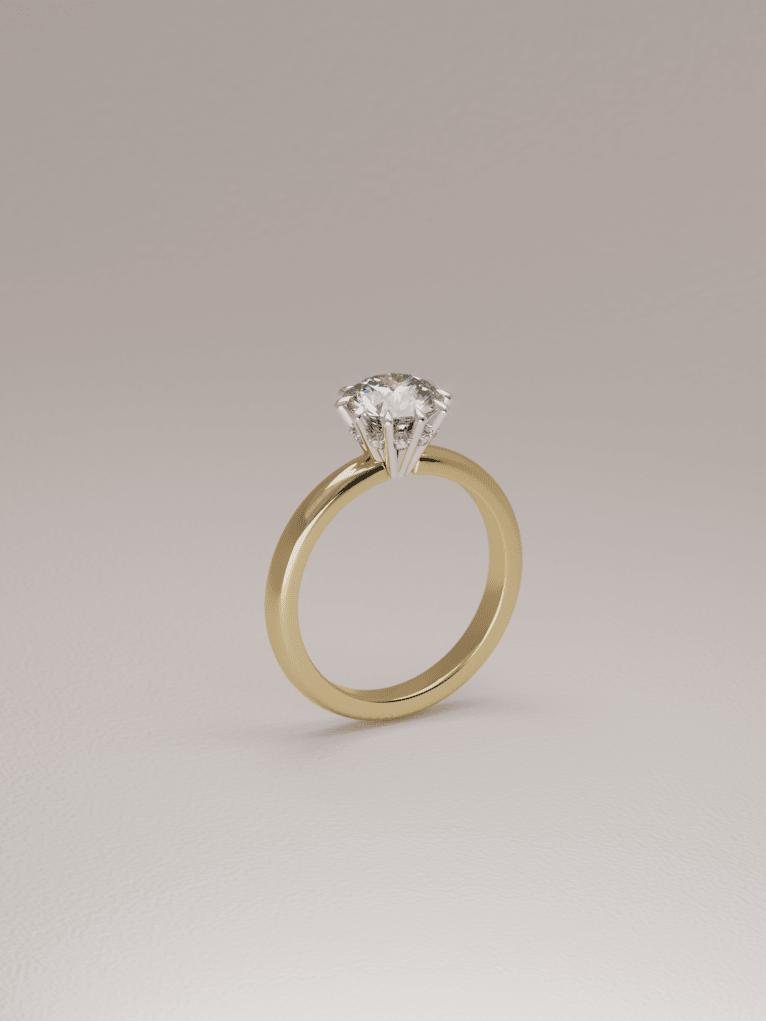 Lab—diamond engagement ring