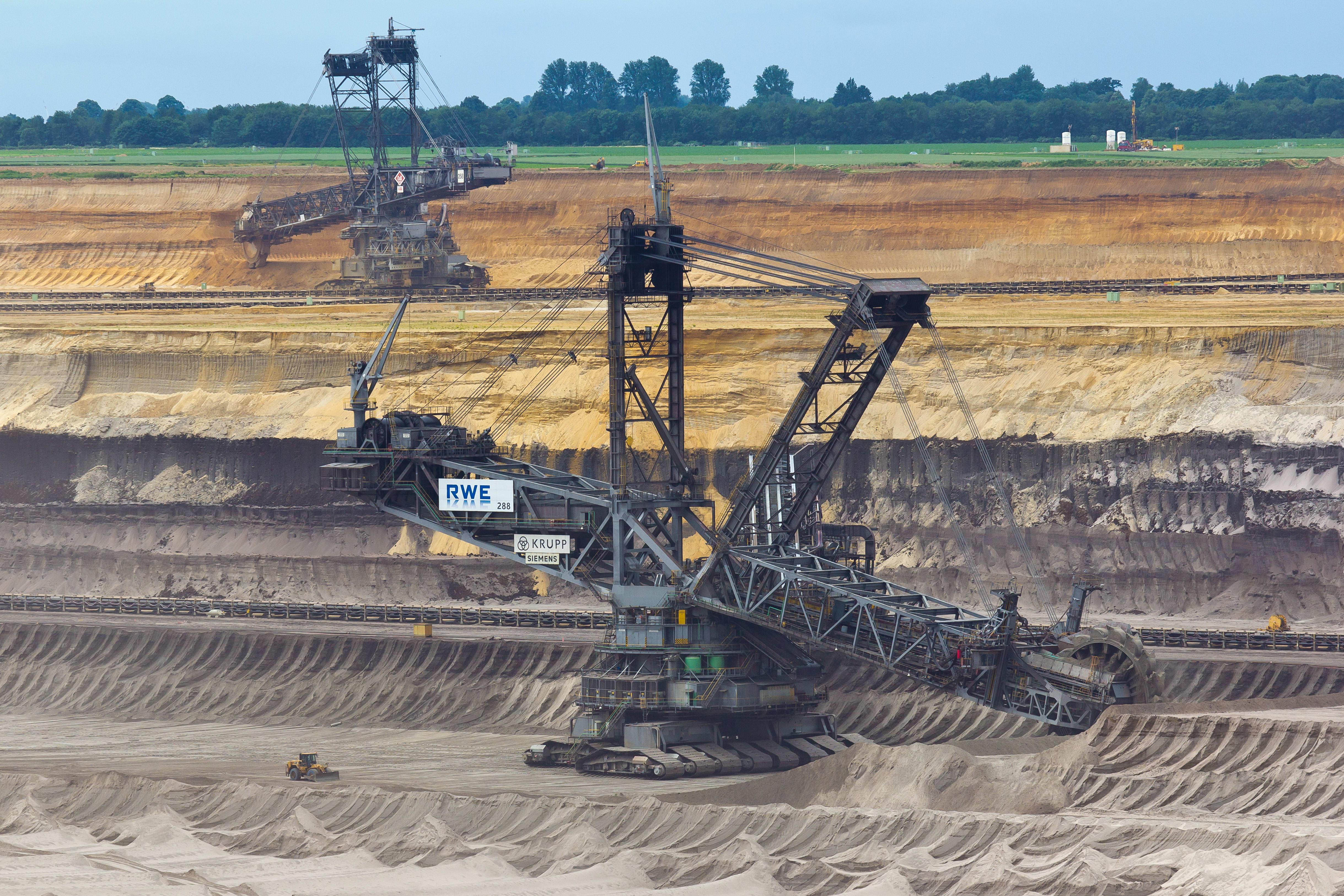 Excavators in Garzweiler surface mine, Germany
