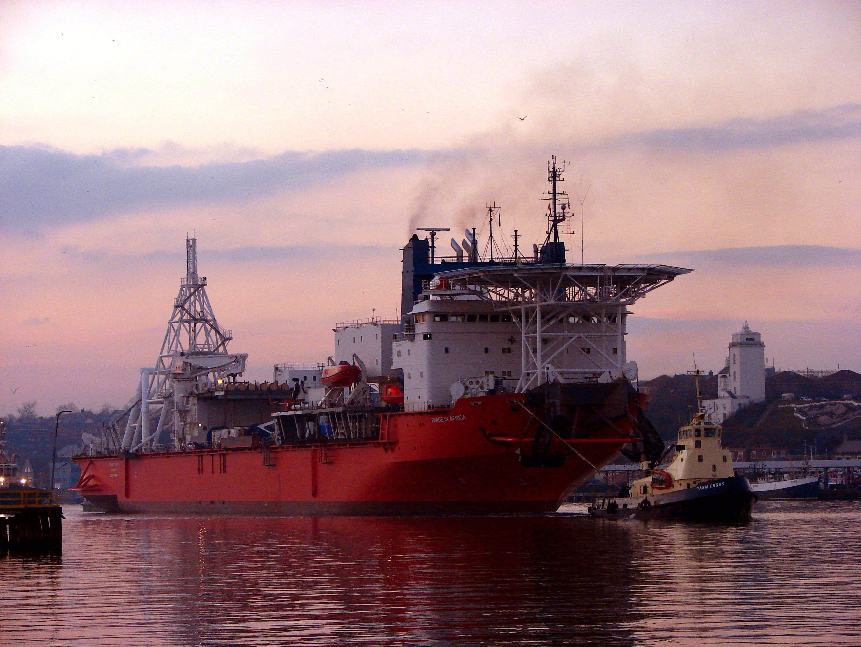 De Beers offshore mining vessel for ocean mining operations