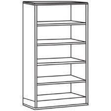 lorell-9000-series-cherry-bookcase