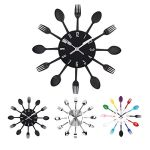 33 cm Metal Cutlery Kitchen Wall Clock - Cute kitchen decor idea by Uniquebella