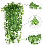 YQing-84-Ft-12-Pack-Artificial-Ivy-Leaf-Garland-Plants-Vine-Hanging-Wedding-Garland-English-Ivy-Home-Kitchen-Garden-Office-Wedding-Wall-Decor