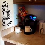 Super Z Outlet Black Coffee Cup Silhouette Metal Wall Art